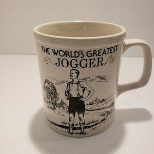 The Worlds Greatest Jogger Vintage Coffee Tea Mug